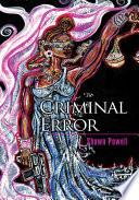 Criminal Error Pdf/ePub eBook