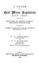 Pdf A Guide to the Coal Mines Regulation Act, 1887
