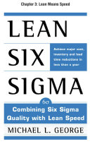 Lean Six Sigma  Chapter 3   Lean Means Speed