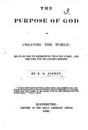 The Purpose of God in Creating the World  Etc