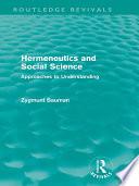 Hermeneutics and Social Science (Routledge Revivals)