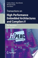 Transactions on High Performance Embedded Architectures and Compilers V