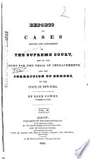 Reports of Cases Argued and Determined in the Supreme Court; and in the Court for the Trial of Impeachments and the Correction of Errors, in the State of New York [1823-1829]