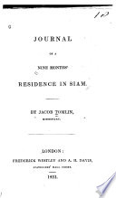 Journal of a Nine Months  Residence in Siam