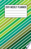 2019 Weekly Planner: Colorful Candy Stripes