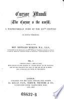 Cursur Mundi  The Cursur O the World   Book