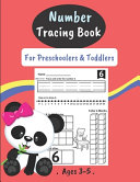 Number Tracing Book For Preschoolers   Toddlers Ages 3 5