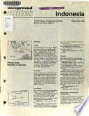 Background notes, Indonesia