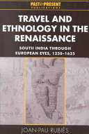 Travel and Ethnology in the Renaissance