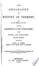 The Geography and History of Vermont Book PDF