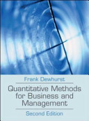 Cover of Quantitative Methods for Business and Management