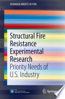 Structural Fire Resistance Experimental Research Book
