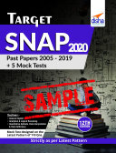 (Free Sample) TARGET SNAP 2020 (Past Papers 2005 - 2019) + 5 Mock Tests 12th Edition Pdf/ePub eBook
