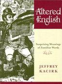 Altered English ebook