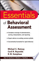 Essentials Of Behavioral Assessment Book PDF