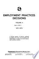 Employment Practices Decisions  , Bände 3-4