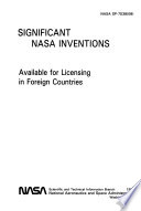 Significant NASA Inventions