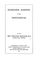 Examination questions on the Pentateuch