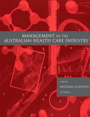 Cover of Management in the Australian Health Care Industry