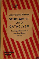 Scholarship and Cataclysm