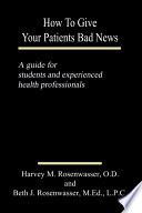 How to Give Your Patients Bad News