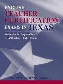 English Teacher Certification Exams in Texas