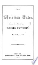 The Christian Union 1859 Prospectus And List Of Members