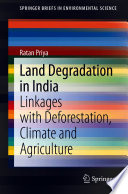 Land Degradation in India Book