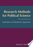 Research Methods for Political Science  : Quantitative and Qualitative Methods
