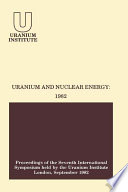 Uranium And Nuclear Energy  1982