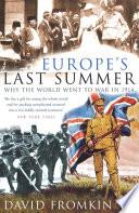 Europe s Last Summer Book PDF