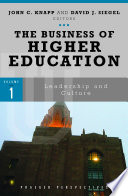 The Business of Higher Education  3 volumes  Book