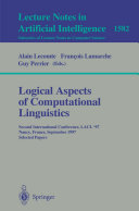 Logical Aspects of Computational Linguistics