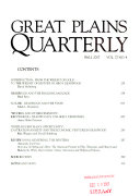 Great Plains Quarterly ebook