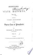 Pennsylvania State Reports Book