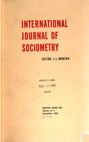 International Journal of Sociometry and Sociatry