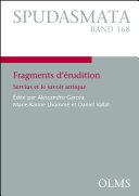 Pdf Fragments d'érudition. Servius et le savoir antique. Telecharger