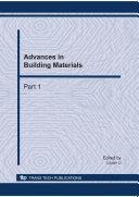 Advances in Building Materials  ICSBM 2011