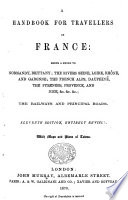 Hand Book For Travellers In France By John Murray Iii With Five Travelling Maps