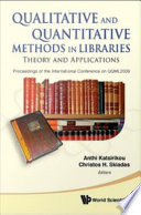 Qualitative and Quantitative Methods in Libraries