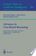 Advances In Case Based Reasoning Book PDF