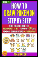 How To Draw Pokemon Step By Step Book