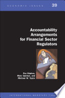 Accountability Arrangements For Financial Sector Regulators Epub  Book