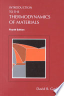 Introduction To The Thermodynamics Of Materials Fifth Edition Book PDF