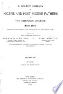 A Select Library of Nicene and Post Nicene Fathers of the Christian Church  St  Basil  Letters and select works  1895