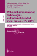 Web Communication Technologies and Internet Related Social Issues   HSI 2003