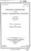 English Literature in the Early Nineteenth Century, 1789-1837