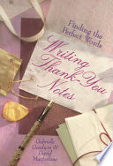 Writing Thank You Notes Book