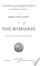 Annual Report of the State Mineralogist for the Year Ending     Book
