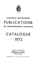 Canadian Government Publications